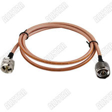 1x N-Type male to UHF PL259 Male Connector Adapter RF Pigtail Cable RG142 1M