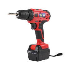 21V Li-ion Battery Electric Screwdriver Rechargeable Cordless Drill Power Tools