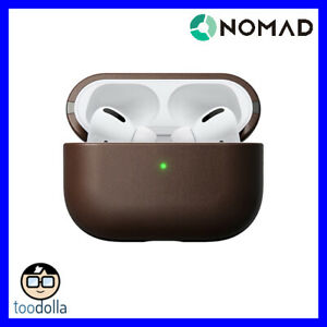 NOMAD Rugged Case - genuine leather protection case for Apple AirPods Pro, Brown