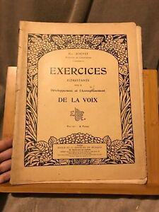 Max Bouvet Exercices élémentaires développement assouplissement voix éd. Enoch