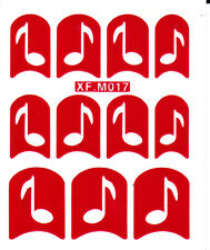 Nail Art Decal Stencil Stickers Musical Notes XF.M017