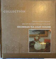 Ceramic Snowman Tealight Votive Candle Holder New Christmas Holiday Kirkland's