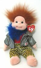 NWT TY GINGER Beanie Kids Baby Doll 12 June 1992 RARE Diva Feather Boa Retired