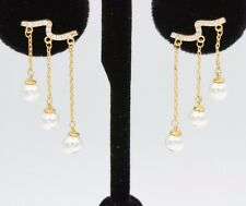 PEARL CHANDELIER EARRING DANGLING FASHION CUTE TRENDY PEARL DANGLE EARRING