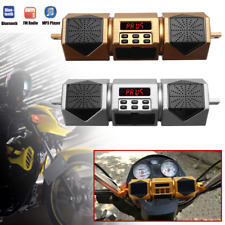 Waterproof Motorcycle bluetooth Speakers Audio Radio Sound Amplifier FM