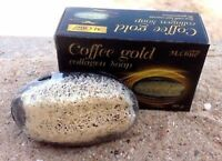 NEW OF COFFEE GOLD COLLAGEN SOAP WITH LUFFA LOOFAH SCRUB