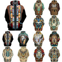 Shirt Men Sweatshirt Hoodie Indian Pullover Print 3D Hooded Casual Sweater