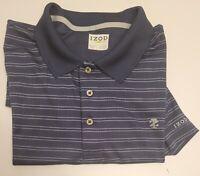 IZOD Golf Polo Short Sleeve Mens Shirt 2XL XXL Blue Striped