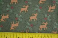 By 1/2 Yd, Brown Green Red Black Quilting, Thimbleberries/North Pole Prints N797