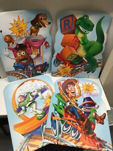 """Toy Story Set of 4 21x28"""" Cardboard Store Display Stands Ruffles Dorritos Fritos"""