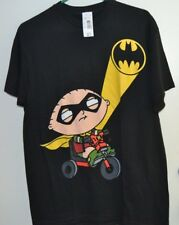 Family Guy Stewie Batman Signal T-Shirt Size Medium Black NWT