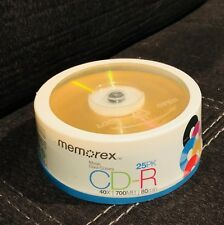 Memorex CD-RM/25 80 Minute Music CD-R Discontinued by Manufacturer New Sealed