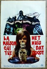 belgian poster THE HOUSE THAT DRIPPED BLOOD, P CUSHING, CHRISTOPHER LEE horreur