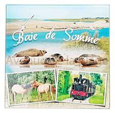 Dessous de plat, planche à découper Baie de Somme verre décoration marine neuf