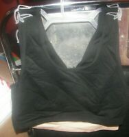 Gilligan O'Malley Nursing Bra 2pc Set 2XL Black  & Mocha Seamless Pullover NWT