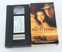 All The Pretty Horses VHS 2000 Matt Damon Penelope Cruz Billy Bob Thornton