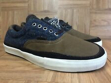RARE🔥 VANS Vault Authentic Harris Tweed Wool Winter Men's 12 Gray Canvas Brown