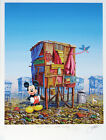 Jeff Gillette - Mickey's Cartoon Shack - Hand Embellished Print 4/5. - Banksy