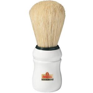 26mm/65mm Schweineborste Large Shaving Brush White Omega Professional Italy