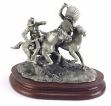 "Pewter Sculpture: Rodden ""Running Battle"" Limited Ed. 722/1500 Indian Wars"
