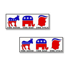 Anti Trump - The Good, the Bad, the Ugly - Set of 2 Bumper Sticker Democratic