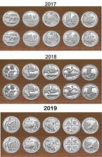 2017, 2018, 2019 Park Quarters  P & D Yearly Uncirculated coin sets 30 Coins