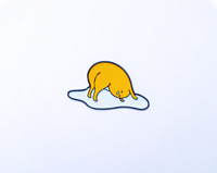 Enamel Pins Gudetama Yoga Fan Art