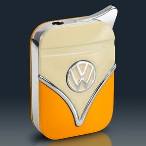 VW Bulli T1 Feuerzeug | ORANGE Metall | Volkswagen Lizenzware | Geschenkbox