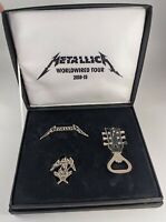 Metallica WorldWired Tour 2018-2019 VIP Gift Set - Pin, Necklace, Bottle Opener