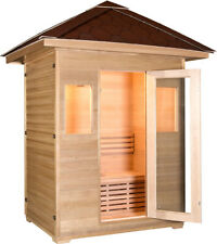 2/3 Person Canadian Hemlock Wood Swedish Wet Dry Traditional Outdoor Sauna Spa