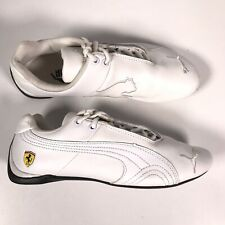 Puma Ferrari Racing Shoes Men's Sz 7 VMC-1104 White Leather