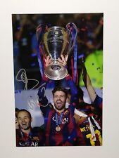 "Gerard Pique signed 18x12"" Barcelona champions league photo / COA"