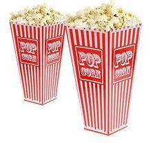 4 x Popcorn Plastic Bucket Holder Theatre Movie Night Cinema Retro Film