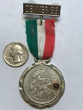 1988 Mexico Lions Club INTERNATIONAL CONVENTION BADGE Pin DENVER  50 PESOS COIN