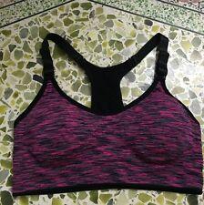 Women Yoga Fitness Stretch Workout Tank Top Seamless Racerback Padded Sports Bra Vest XXXS