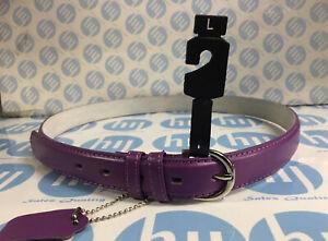 """Purple Colour genuine leather belt 28mm X 111cm long size L Fit 32""""-36"""""""