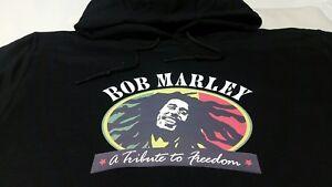 BOB MARLEY Jamaica Ganga Reggae BLACK Hoodie