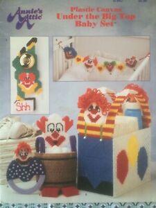 Annie's Attic Plastic canvas Under The Big Top Baby Set pattern book