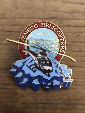 Vintage ALASKA Temsco Helicopters Pin Pinback 1987  MSL