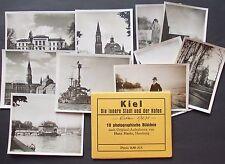 Leporello Kiel die innere Stadt und der Hafen Kriegsschiff Marine 10 Foto AK
