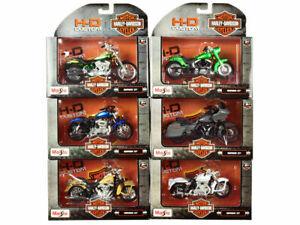 Harley-Davidson 6 piece Set Motorcycles Series 37 1/18 Diecast Models by Maisto