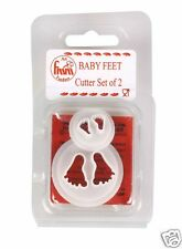 FMM BABY FEET CUTTERS IN 2 SIZES SUGARCRAFT, IDEAL FOR NEW BABY CELEBRATIONS