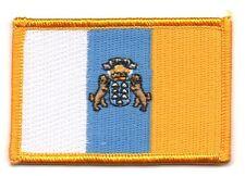 Parche bandera PATCH ISLAS CANARIAS 7x4,5cm bordado termoadhesivo nuevo