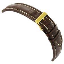 20mm Morellato Matte Dark Brown Genuine Alligator Stitched Watch Band 2120