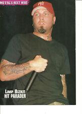 Limp Bizkit, Fred Durst, Full Page Pinup