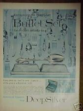 1956 Deep Silver Buffet Set Formal Silverware Ad