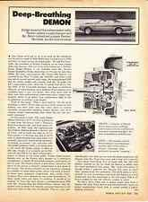 1972 DODGE DEMON MR NORM ~ JOE GRANTELLI PAXTON SUPERCHARGED ~ ORIG ARTICLE/AD