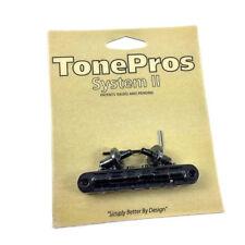 Tone Pros Black T3BP Locking Nashville Tunematic Guitar Bridge GB-2543-003