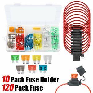 10x Add A Circuit Fuse Tap Car Mini Micro Blade Fuse Box Holder 12V w/50pcs Fuse