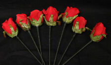 Roses Mane Flowers Horse Decorations - Red